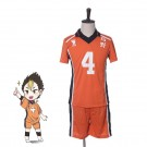 Haikyū!! Yū Nishinoya Number 4 Volleyball Sports Cosplay Costumes