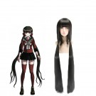 120cm Danganronpa V3 Harukawa Maki Black Long Cosplay Wigs