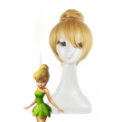 Fairy Tinker Bell Medium Long Blonde Female Cosplay Wigs