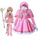 Cardcaptor Sakura Clear Card Anime Cosplay Costume Sakura Kinomoto Pink Dress Cosplay