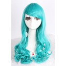 Long Dark Turquoise Anime Curly Wavy Cosplay Wigs Party Hair