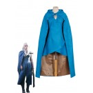 Game of Thrones Daenerys Targaryen Cosplay Costume With Cool Clock