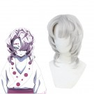 Demon Slayer Rui Silver Curly Long Cosplay Wigs