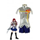 Fairy Tail Erza Scarlet Silver Female Dress Cosplay Costume