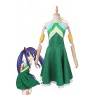 Vicwin-One Fairy Tail Wendy Marvell Green Dress Cosplay Costume Outfits