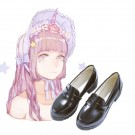 Japanese Student shoes JK Uniforms Shoes  Lolita Shoes Black high-heeled Cosplay Shoes