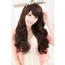 60cm Long Fashion Wig Dark Brown Charm Sweet Curly Wavy Women Hair