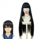 Gintama Katsura Kotarou Anime  Black Long straight Cosplay Wigs