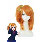 Love Live! Kousaka Honoka Medium Long Orange Cosplay Wigs