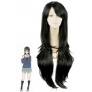 Beyond the Boundary Mitsuki Nase Black Long Anime Cosplay Wigs