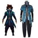 LOL True Damage Yasuo Male Cosplay Costume Full Sets