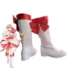 Magical Girl Ore Saki Uno for Women Men White Cosplay Boots