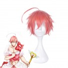 Magical Girl Ore Saki Uno Pink Short Synthetic Cosplay Wig