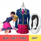 OW Academy D․Va Hana Song Uniform Cosplay Costume