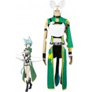 Sword Art Online Asada Shino Green Female Cosplay Costumes