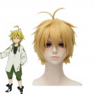 35cmThe Seven Deadly Sins  Meliodas Blond Short Synthetic Cosplay Wigs