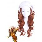 60cm Long White Mixed Brown X-Men Rogue Curly Cosplay Wig