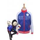 Yuri on Ice Yuri Plisetsky Blue Sportswear Coat  Cosplay Costumes