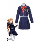 Sword Art Online Yuuki Asuna Student Blue Uniform Cosplay Costume