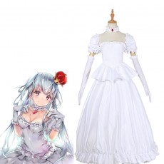 New Super Mario Bros. U Deluxe Boosette White dress Cosplay Costume