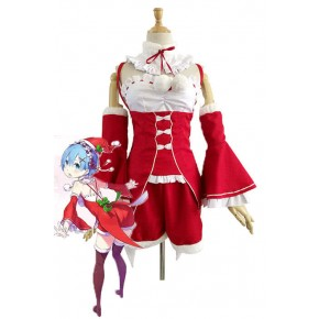 Re : Zero-Starting life in another World Rem Red Christmas Cosplay Costumes