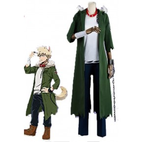 Anime My Hero Academia Katsuki Bakugō Halloween Green Cosplay Costumes