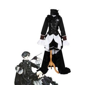 Black Butler Ciel Phantomhive Cosplay Costume Classical uniform in party