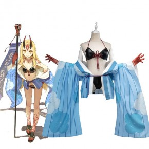 Fate/Grand Order Ibaraki Douji Anime Swimsuit Cosplay Costume