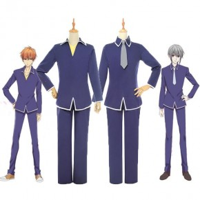 Fruits Basket Yuki soma Kyo soma School Uniform Cosplay Costume
