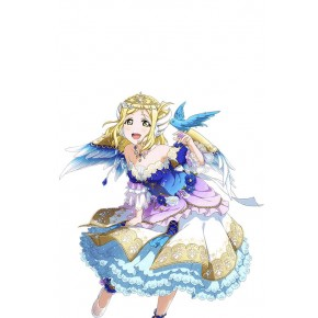 Love Live Sunshine Angel Aqours Mari Ohara Blue Dress Anime Cosplay Costumes