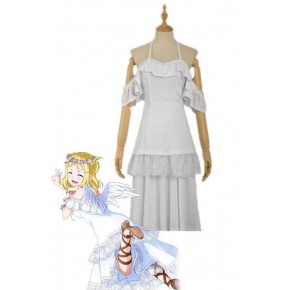 Love Live Sunshine Angel Aqours Unawaken Mari Ohara White Dress Anime Cosplay Costumes