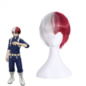 My Hero Academia Shōto Todoroki Anime Cosplay Wigs White Mix Red Wigs