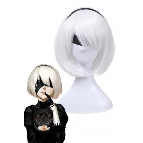 Action Role-playing Video Game Nier  Mechanical Era Game 2b Cosplay Wigs