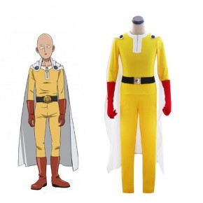 Saitama Jumpsuit Battle Suit Cosplay Full Sets