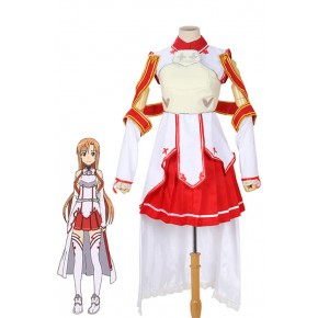 Sword Art Online Game SAO Asuna Anime Cosplay Costume Outfit