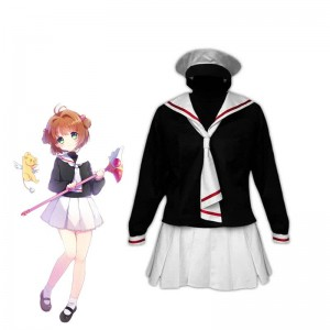 Cardcaptor Sakura Kinomoto Sakura Tomoeda Winter School Uniform Cosplay Costume