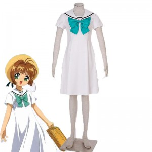 Cardcaptor Sakura Kinomotosakura 5th Version White Sailor Cosplay Costumes