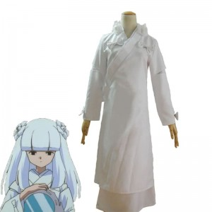 Inuyasha Kanna Cosplay Costume White Kimono Customized