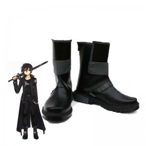 Sword Art Online Kazuto Kirito Kirigaya Cosplay Boots Shoes