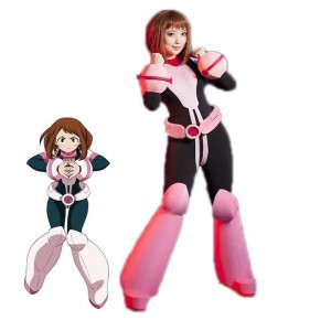 My Hero Academia Ochako Uraraka Anime Battle Cosplay Costumes Customized