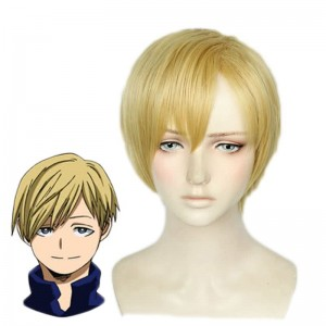 My Hero Academia Neito Monoma Man Gold Cosplay Wigs