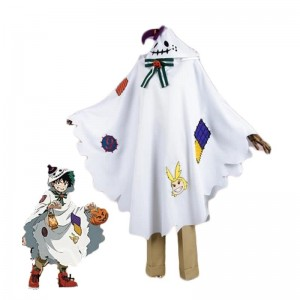 My Hero Academia Izuku Midoriya White Anime Cosplay Costumes