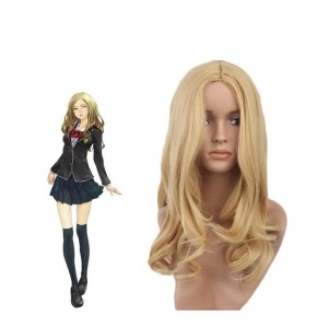 45cm Golden Curly Guilty Crown Kuhouin Arisa Cosplay Wig