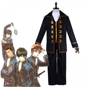 Gintama Toushirou HijikataSougo Okita Uniform Black Cosplay Costumes