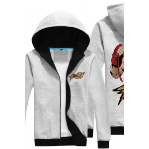 Street Fighter Men's Fleece With Hat On Winter