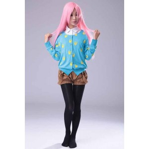 Super Sonico Blue Rabbit Printed Sweater Brown Bloomer Cosplay Costume