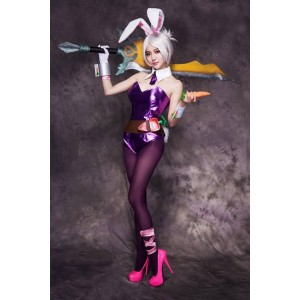 LOL Riven Purple Cosplay Costumes