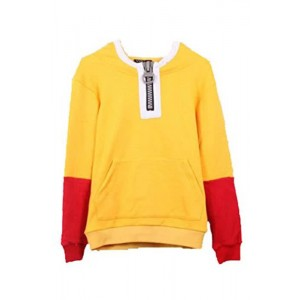 One Punch Man Saitama Zipper Hoodie Sweater Cosplay Costumes