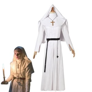 2018 Horror Movie The Nun Trailer Valak Sister White The Conjuring Women Halloween Costumes