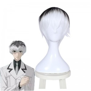 28cm Tokyo Ghoul Haise Sasaki Short Synthetic Cosplay Wigs